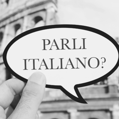 Who from the team's learning Italian?